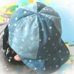ダブルガーゼで作る赤ちゃん用ベースボールキャップ(リーバーシブル野球帽)
